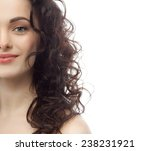 closeup portrait of attractive  ... | Shutterstock . vector #238231921