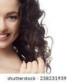 closeup portrait of attractive  ... | Shutterstock . vector #238231939