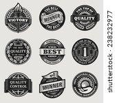 heraldic vintage sign sticker... | Shutterstock .eps vector #238232977