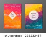 vector set of abstract brochure ... | Shutterstock .eps vector #238233457