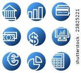finance web icons  blue circle... | Shutterstock .eps vector #23825221