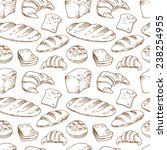 bread  seamless pattern with... | Shutterstock .eps vector #238254955