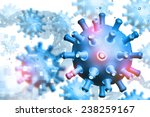 digital illustration of virus | Shutterstock . vector #238259167