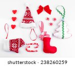 collection of christmas objects ... | Shutterstock . vector #238260259
