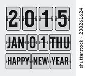 new year counter | Shutterstock .eps vector #238261624