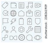 universal gui vector icons set...