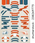big set classic ribbons with 2... | Shutterstock .eps vector #238269775
