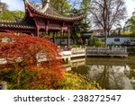 Chinese Park In Europe. Chines...