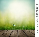 summer background with wooden... | Shutterstock .eps vector #238273417