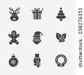 christmas silhouette icons... | Shutterstock .eps vector #238276351