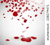 background of red rose petals | Shutterstock .eps vector #238279471