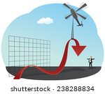 businessman is lifting up red... | Shutterstock .eps vector #238288834