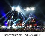 vector stage spotlight with... | Shutterstock . vector #238295011