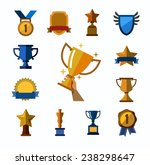 vector color trophy and awards... | Shutterstock .eps vector #238298647