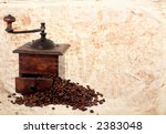 vintage coffee mll with  bean... | Shutterstock . vector #2383048