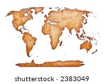 ancient world map isolated on... | Shutterstock . vector #2383049