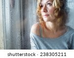 portrait of young woman throw... | Shutterstock . vector #238305211