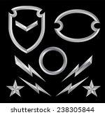 beveled shield crest emblem... | Shutterstock .eps vector #238305844