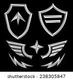 beveled shield crest emblem... | Shutterstock .eps vector #238305847