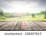 Wooden Floor And Spring...