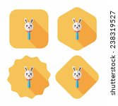 baby rattle flat icon with long ...   Shutterstock .eps vector #238319527