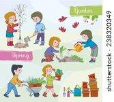 spring tide garden.children ... | Shutterstock .eps vector #238320349