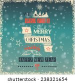 christmas label on blurred... | Shutterstock .eps vector #238321654