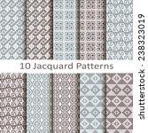 set of ten jacquard patterns | Shutterstock .eps vector #238323019