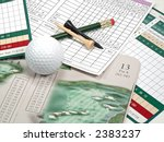 Golf Scorecard   Items