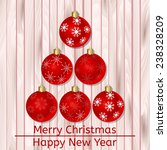 raster happy new year and merry ... | Shutterstock . vector #238328209