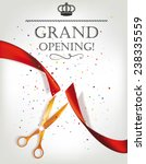 grand opening card with red... | Shutterstock .eps vector #238335559