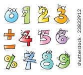 vector cartoon funny numbers ... | Shutterstock .eps vector #23833912