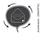 hand drawn vector speech bubble ... | Shutterstock .eps vector #238349761