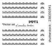 vector set of seamless borders. ... | Shutterstock .eps vector #238350541