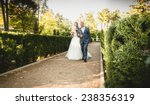 happy father leads beautiful... | Shutterstock . vector #238356319