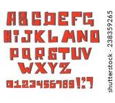 vector alphabet. cartoon... | Shutterstock .eps vector #238359265