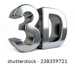 metallic 3d logo with... | Shutterstock . vector #238359721