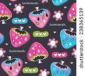 summer strawberry pattern... | Shutterstock .eps vector #238365139