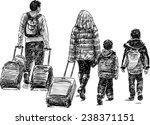 traveling family | Shutterstock .eps vector #238371151
