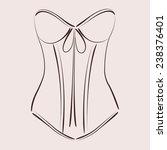 sketched corset. harmonic... | Shutterstock .eps vector #238376401