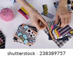 fashion design  close up | Shutterstock . vector #238389757