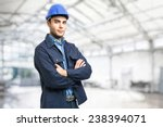 portrait of an handsome engineer | Shutterstock . vector #238394071