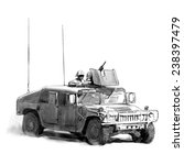military vehicle vector drawing ... | Shutterstock .eps vector #238397479