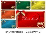 collection of greeting cards...   Shutterstock .eps vector #23839942