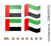 united arab emirates flags | Shutterstock . vector #238405921