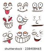 cartoon expressions set | Shutterstock .eps vector #238408465