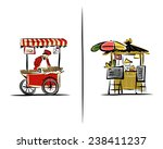 street sellers  sketch for your ... | Shutterstock .eps vector #238411237