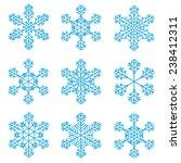 9 snowflakes vectors | Shutterstock .eps vector #238412311