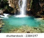 krcic waterfall in south... | Shutterstock . vector #2384197