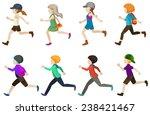 running kids | Shutterstock .eps vector #238421467
